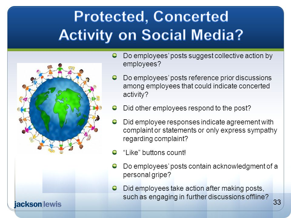 Protected, Concerted Activity on Social Media