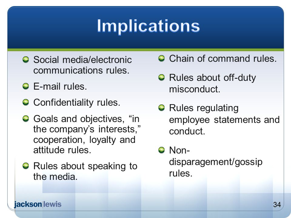 Implications Chain of command rules.