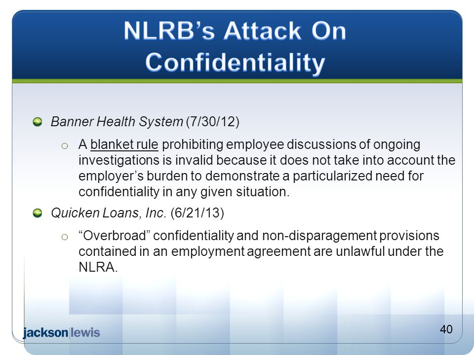 NLRB's Attack On Confidentiality