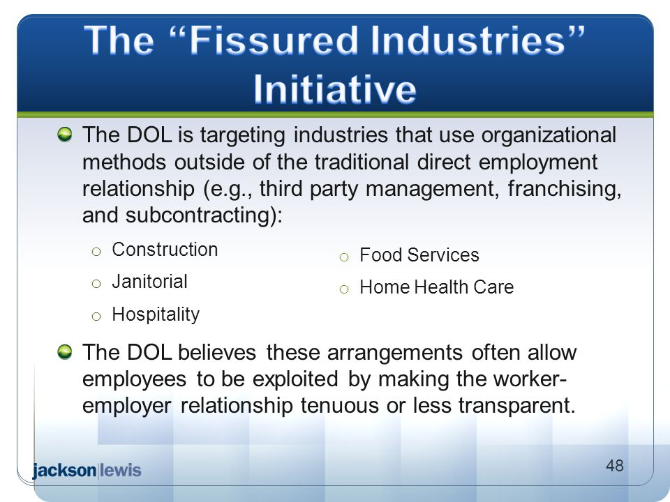 The Fissured Industries Initiative