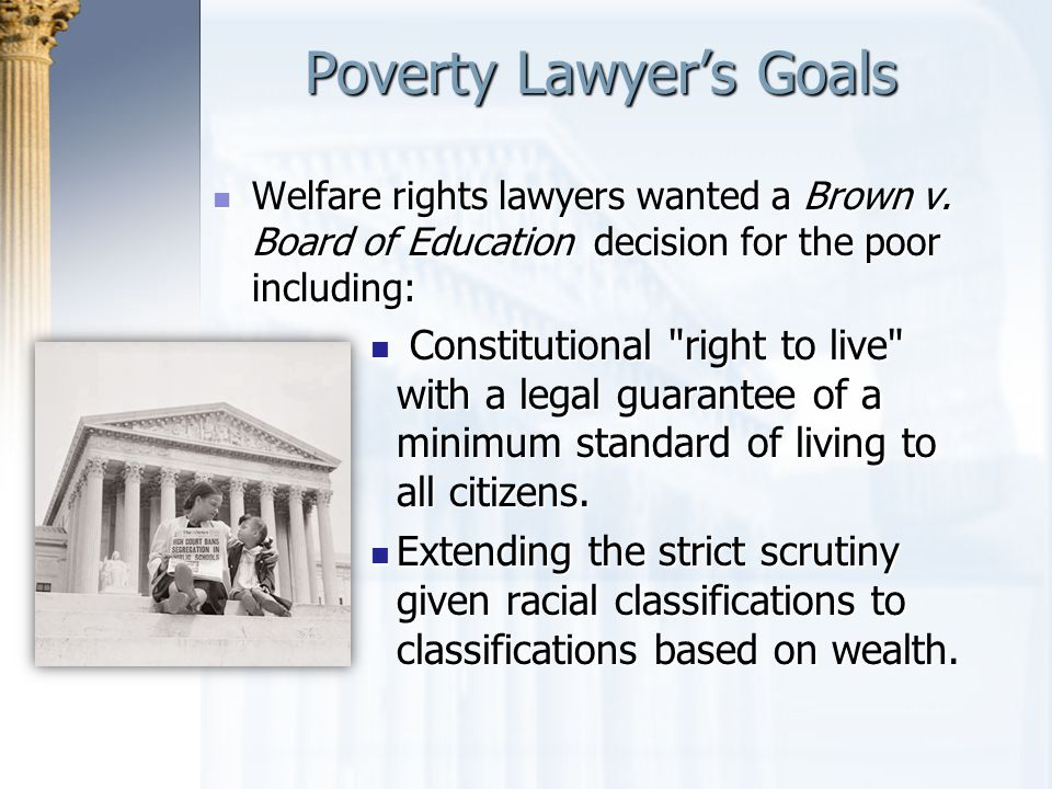 Poverty Lawyer's Goals