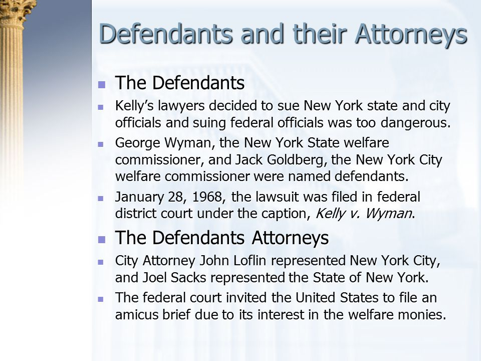 Defendants and their Attorneys