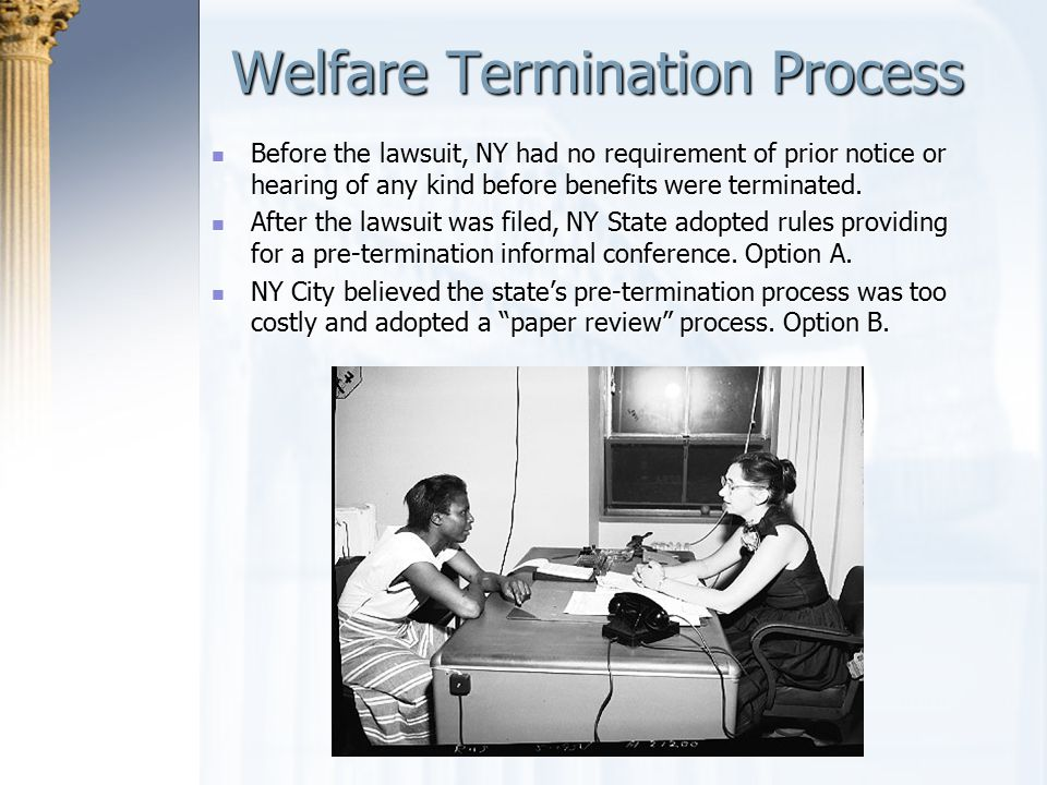 Welfare Termination Process