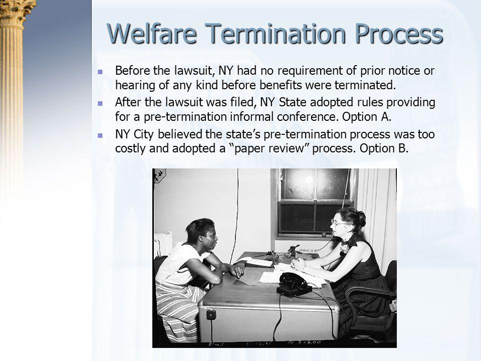 Welfare Termination Process