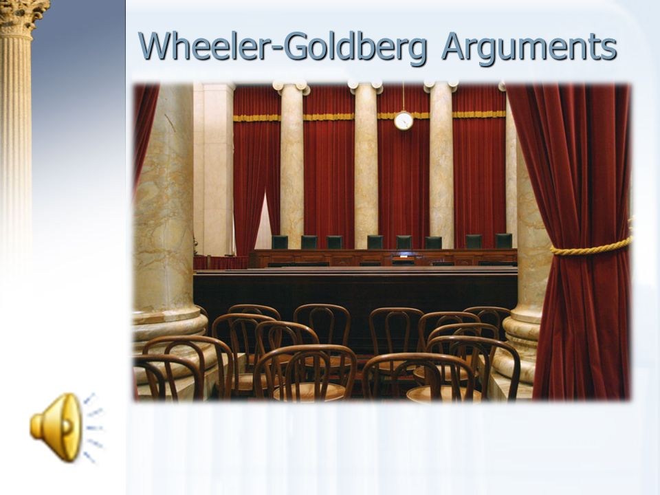 Wheeler-Goldberg Arguments