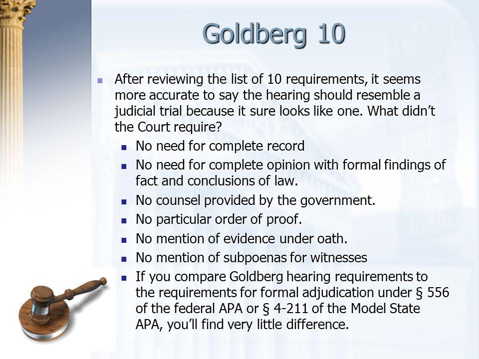 Goldberg 10