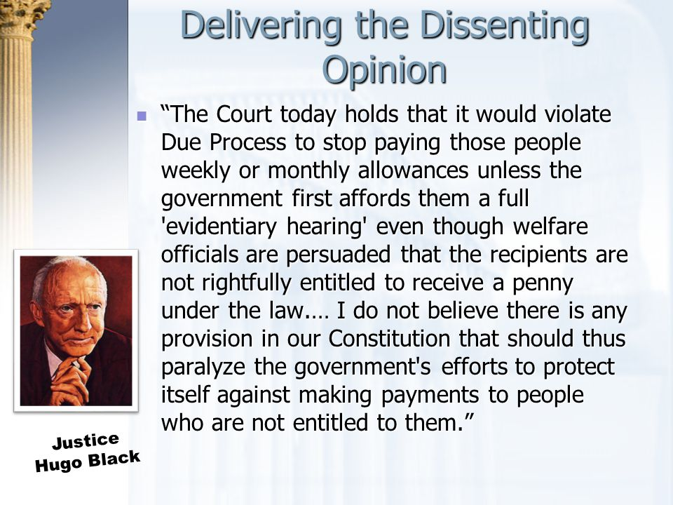Delivering the Dissenting Opinion