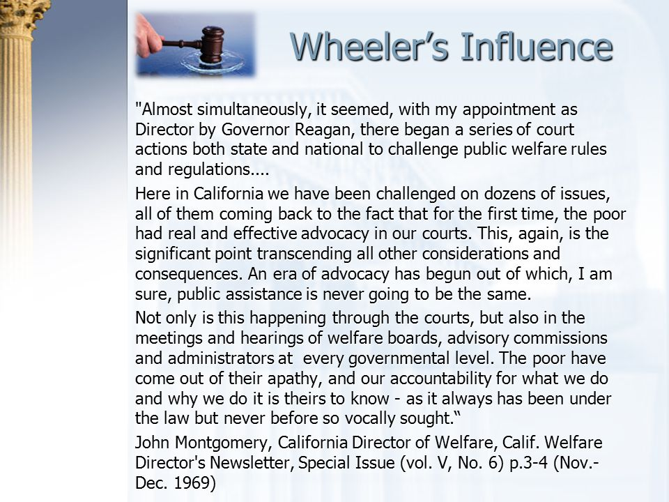 Wheeler's Influence