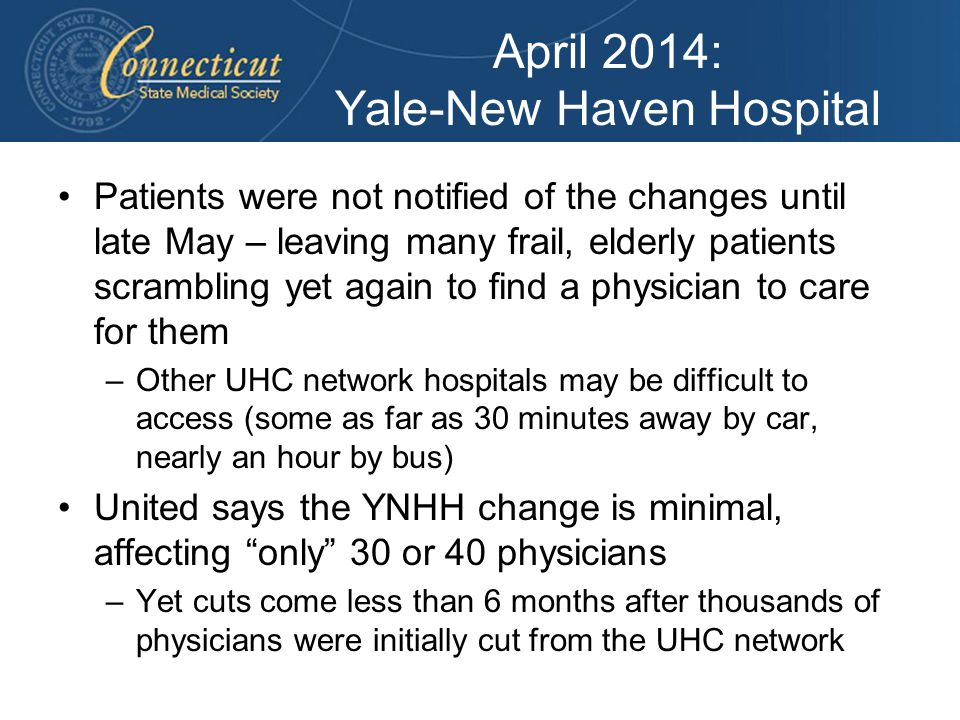 April 2014: Yale-New Haven Hospital