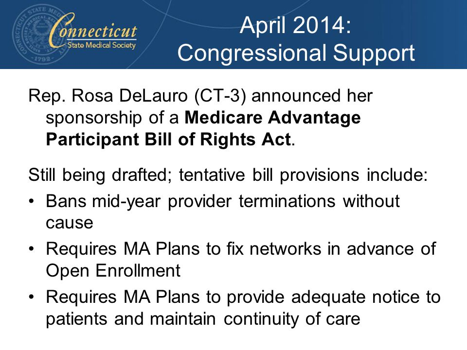 April 2014: Congressional Support