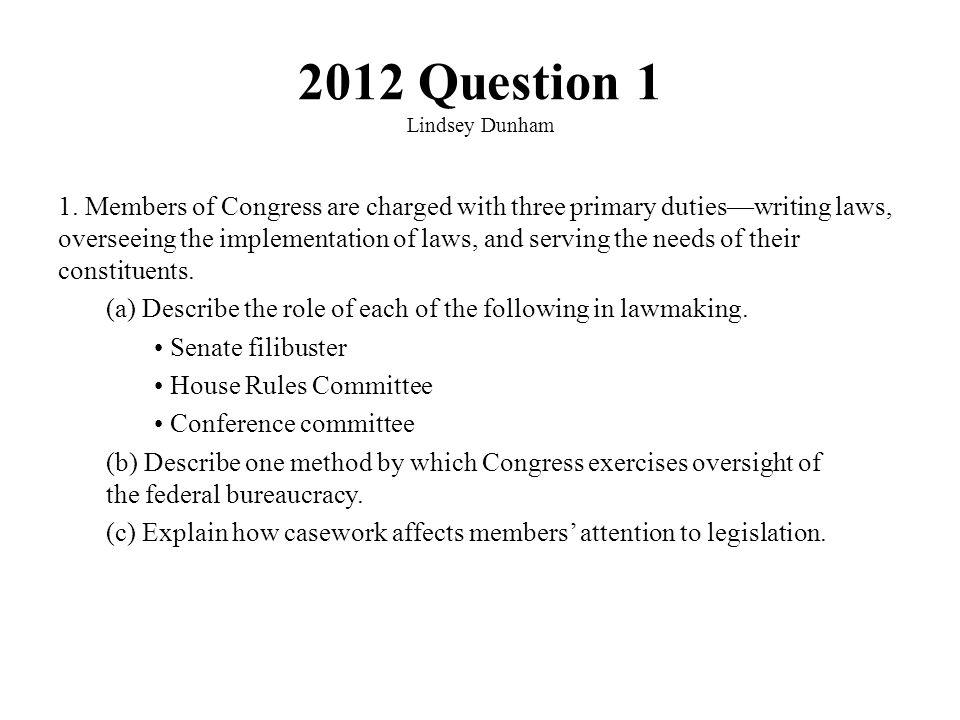 2012 Question 1 Lindsey Dunham