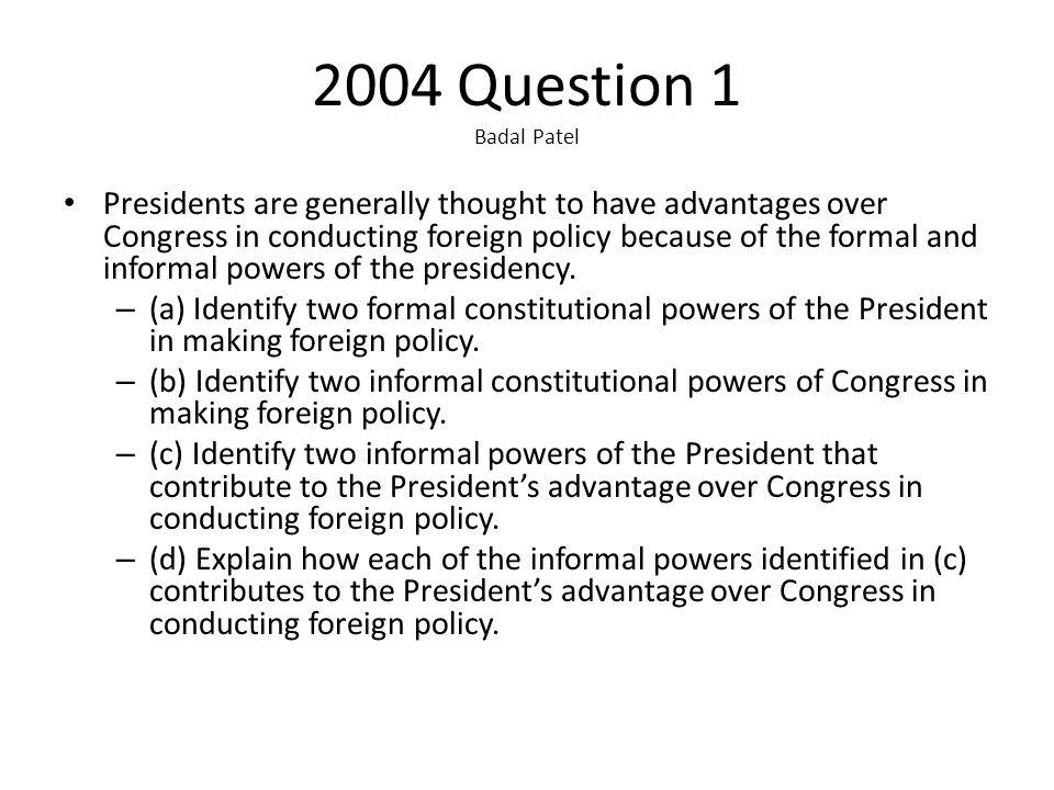 2004 Question 1 Badal Patel