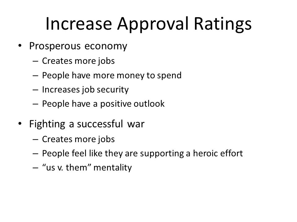 Increase Approval Ratings