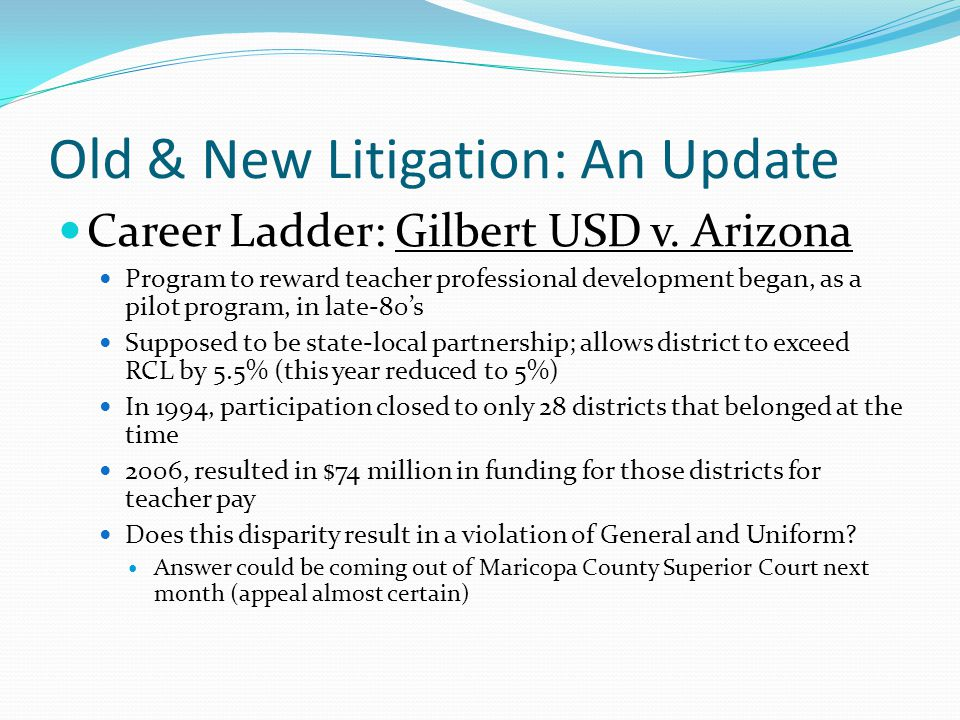 Old & New Litigation: An Update