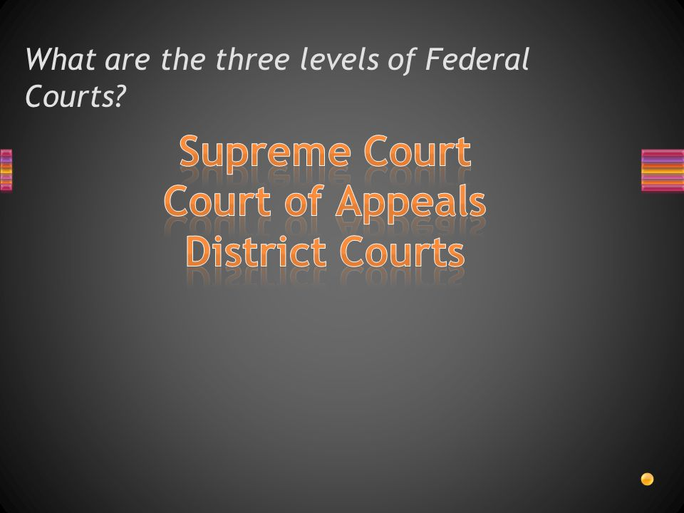 What are the three levels of Federal Courts