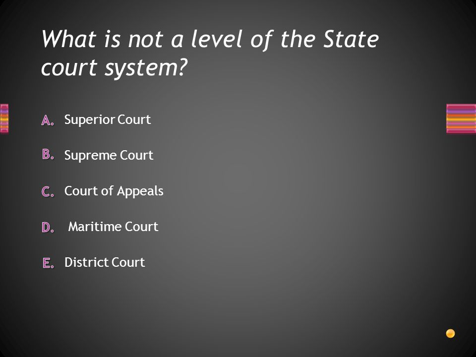 What is not a level of the State court system