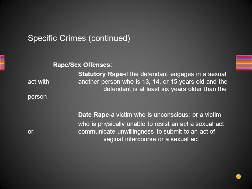 Specific Crimes (continued)
