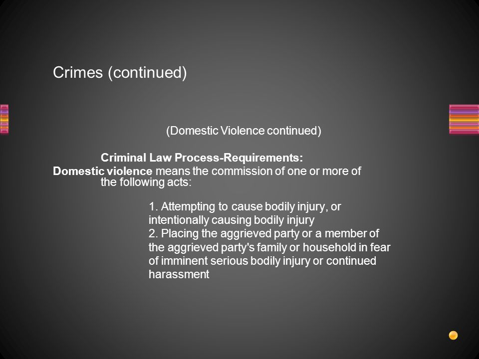 Crimes (continued)