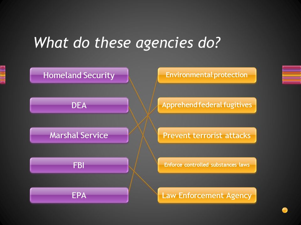 What do these agencies do