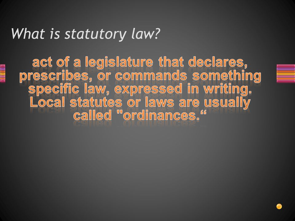 What is statutory law