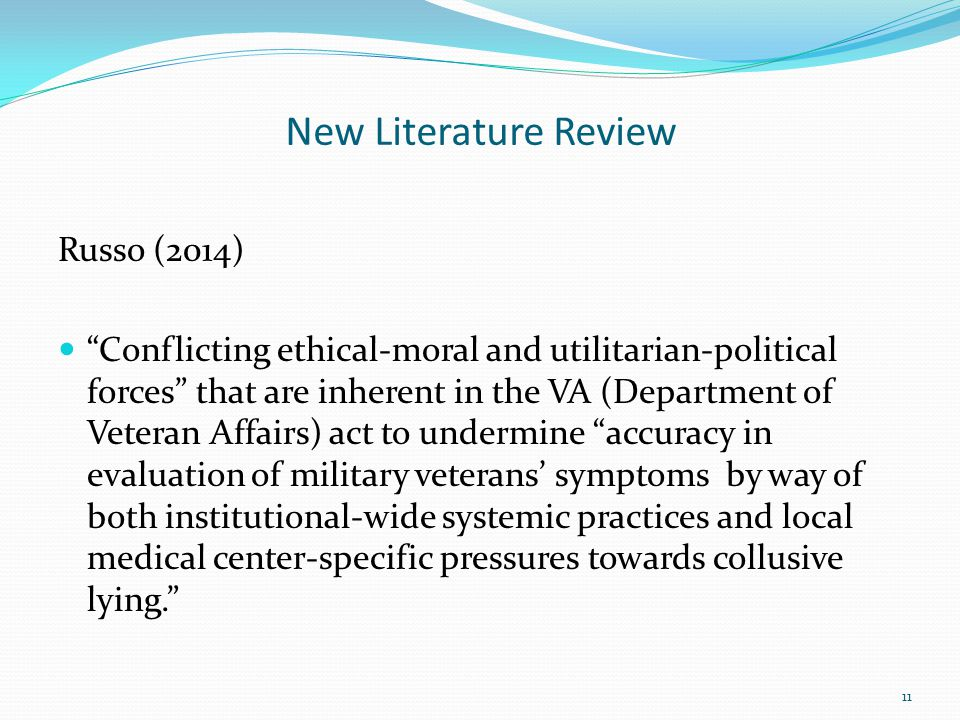 New Literature Review Russo (2014)