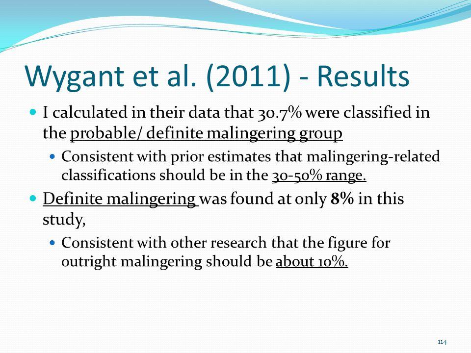 Wygant et al. (2011) - Results