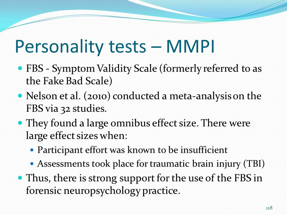 Personality tests – MMPI
