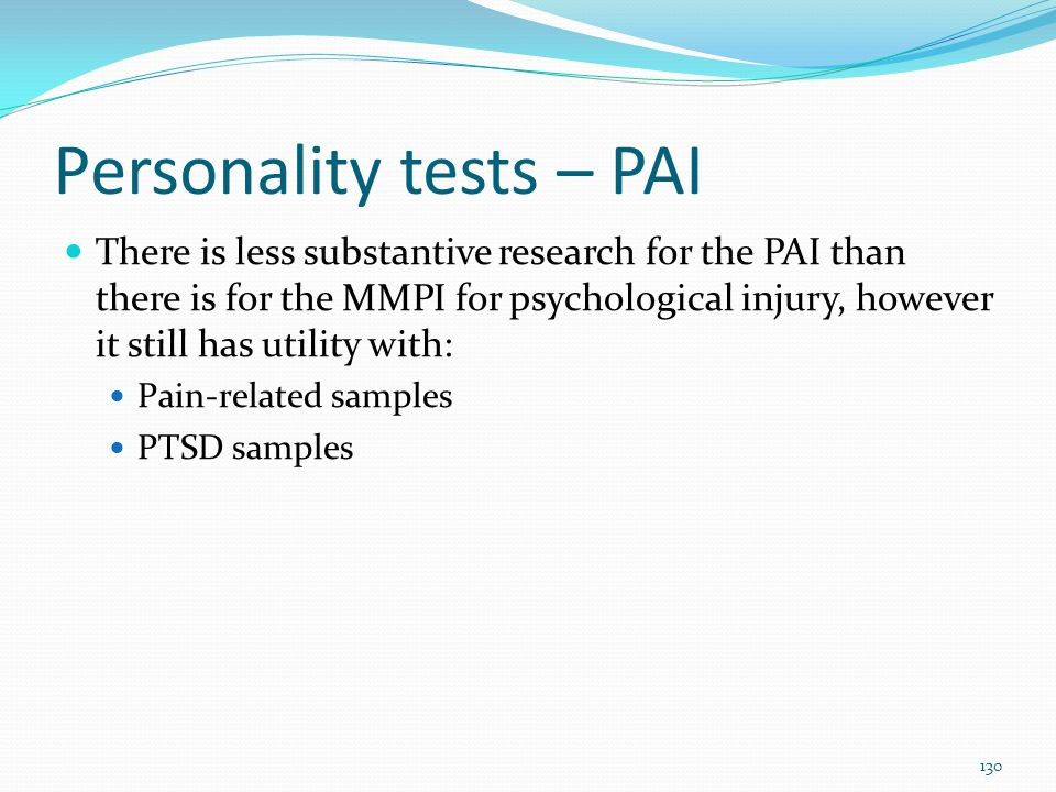 Personality tests – PAI