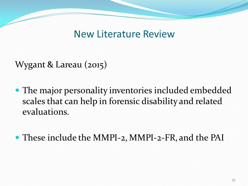 New Literature Review Wygant & Lareau (2015)