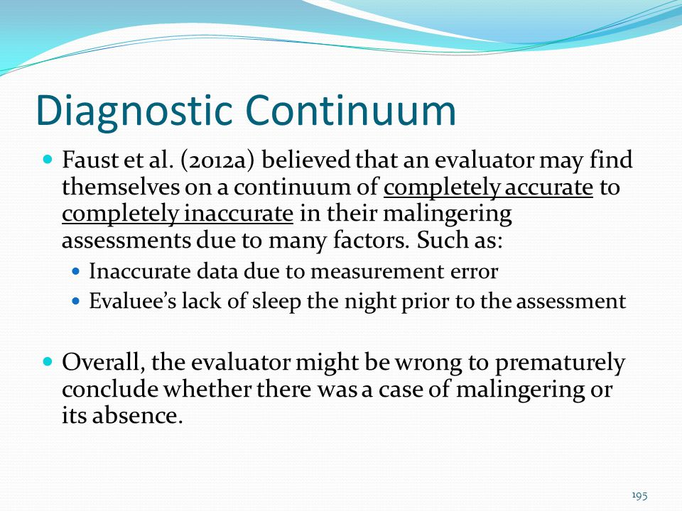 Diagnostic Continuum