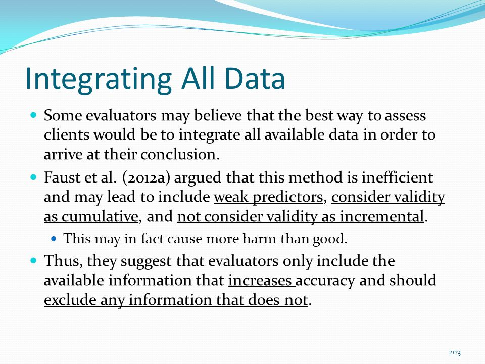 Integrating All Data