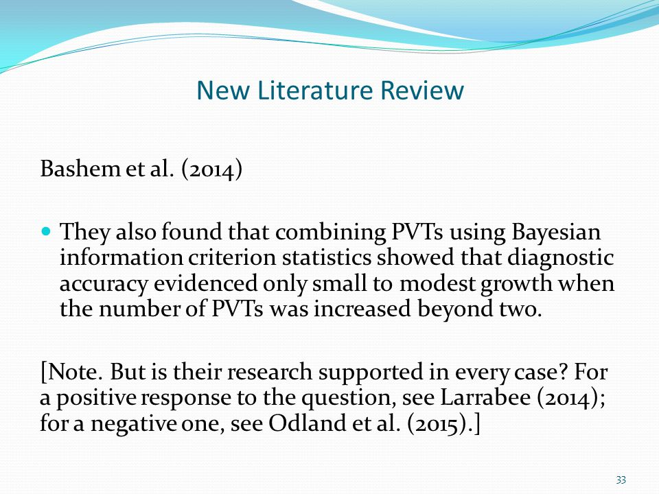 New Literature Review Bashem et al. (2014)