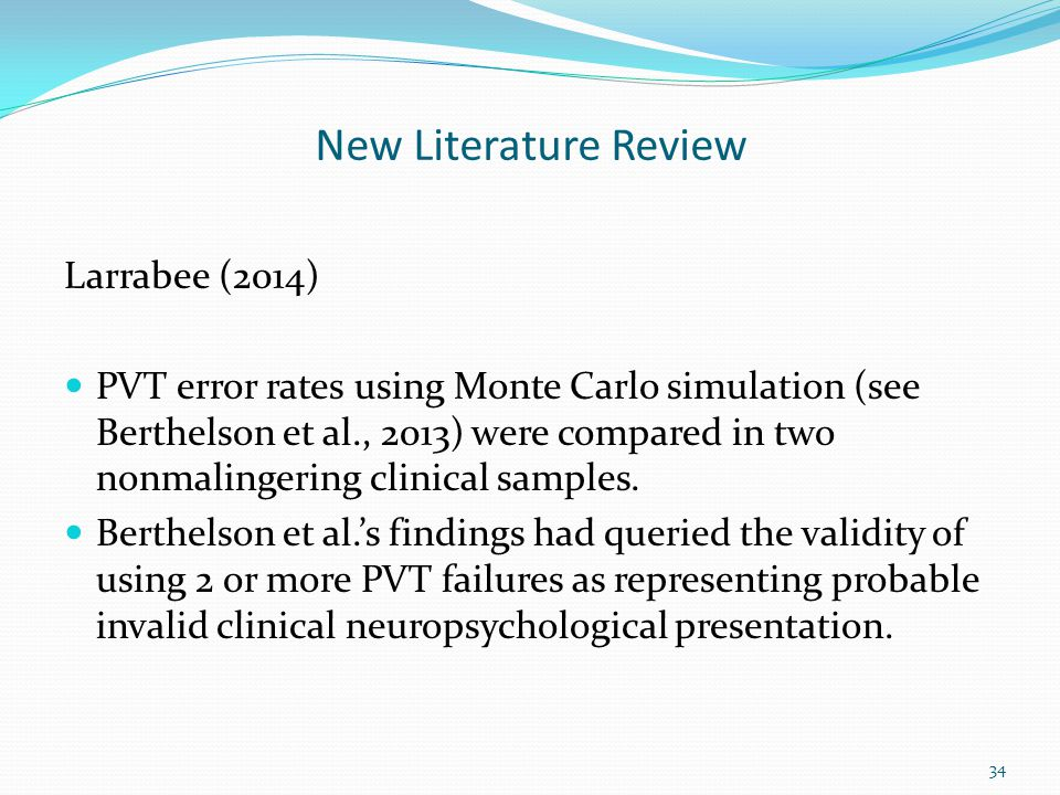 New Literature Review Larrabee (2014)
