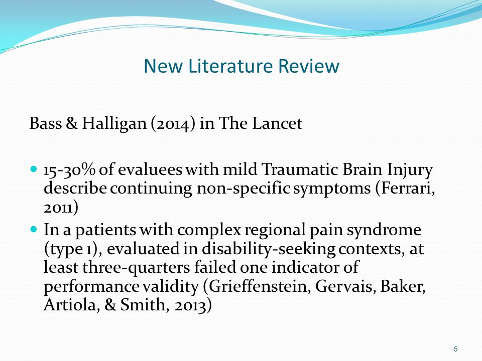 New Literature Review Bass & Halligan (2014) in The Lancet