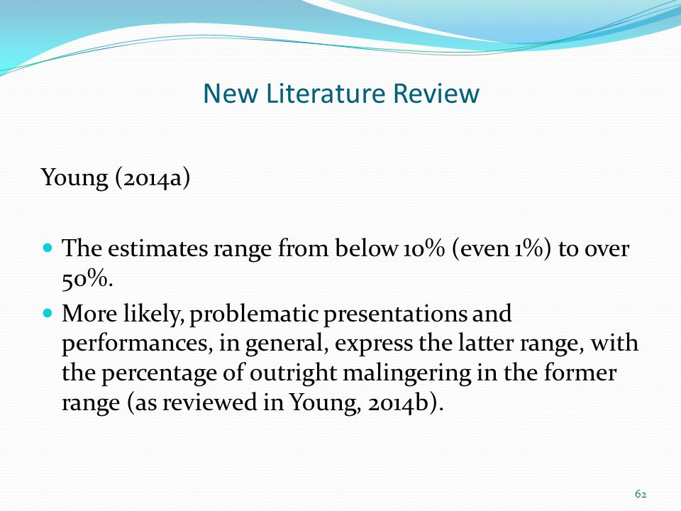New Literature Review Young (2014a)