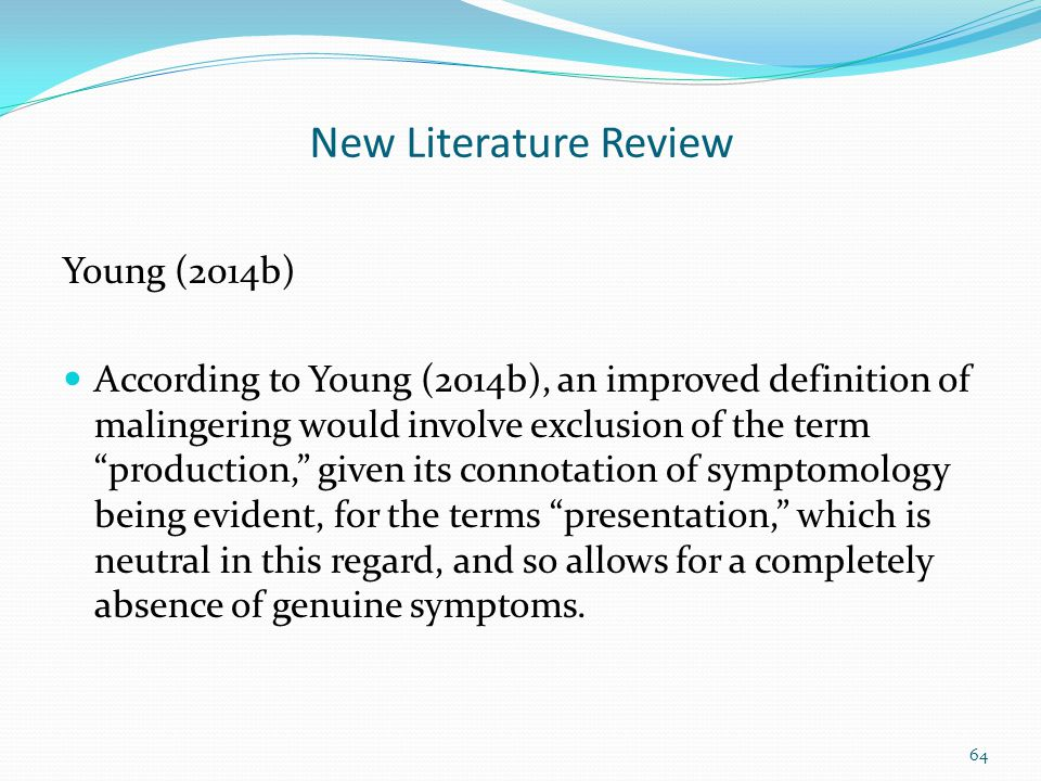 New Literature Review Young (2014b)