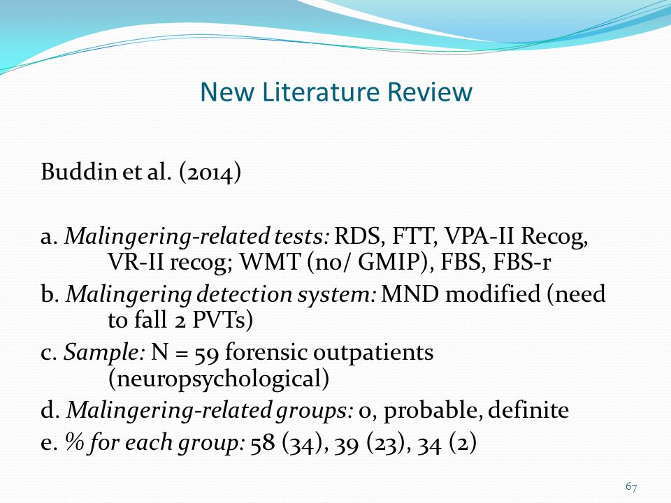 New Literature Review