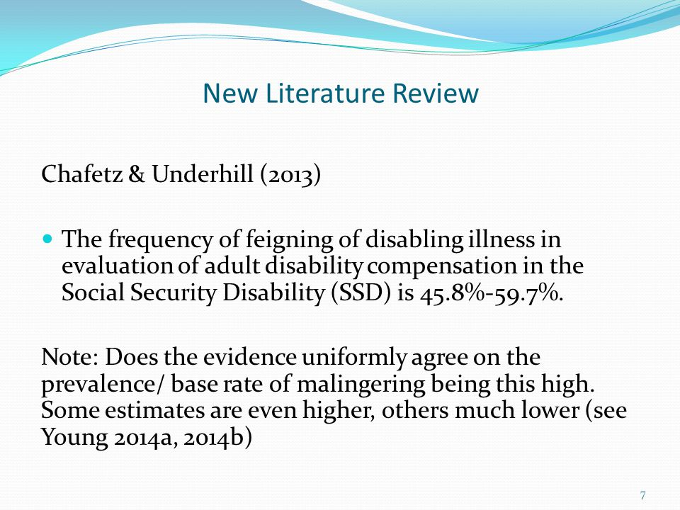 New Literature Review Chafetz & Underhill (2013)