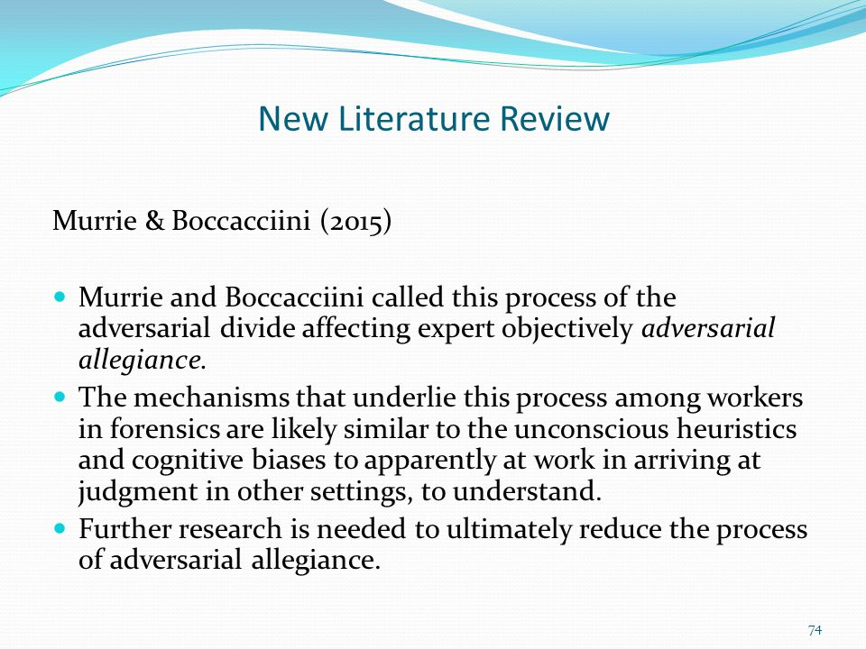 New Literature Review Murrie & Boccacciini (2015)