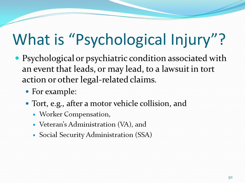 What is Psychological Injury