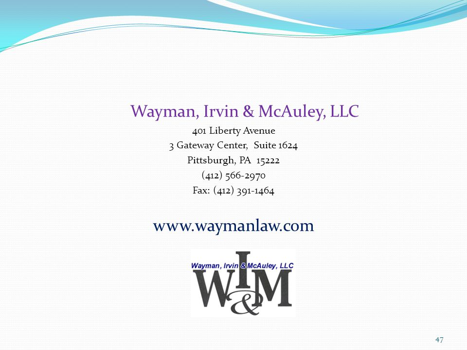 Wayman, Irvin & McAuley, LLC