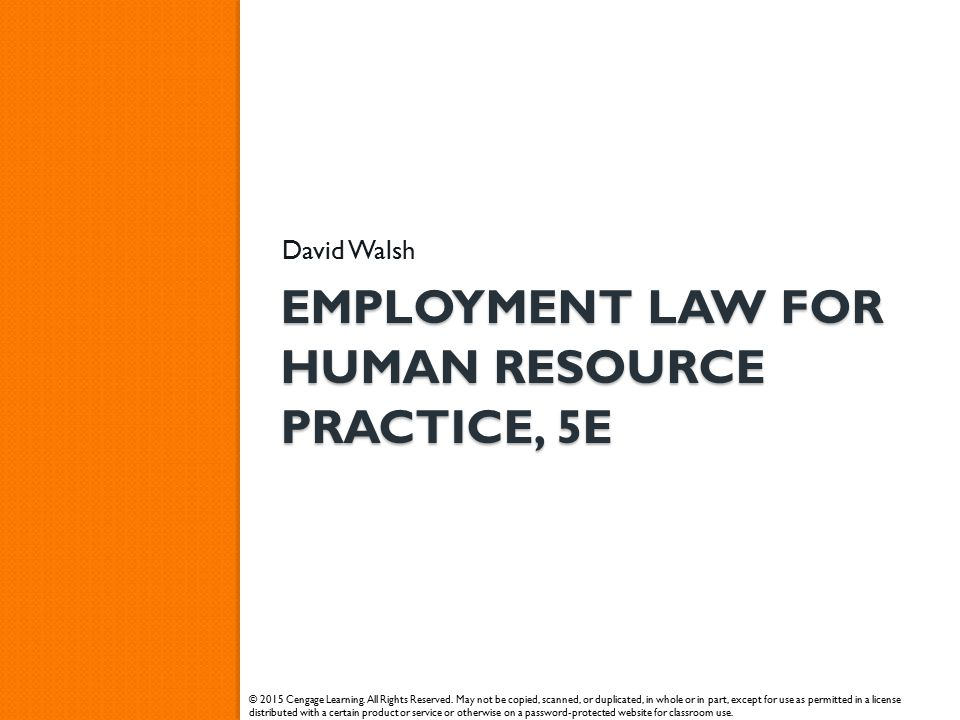 Employment law for human resource practice, 5e