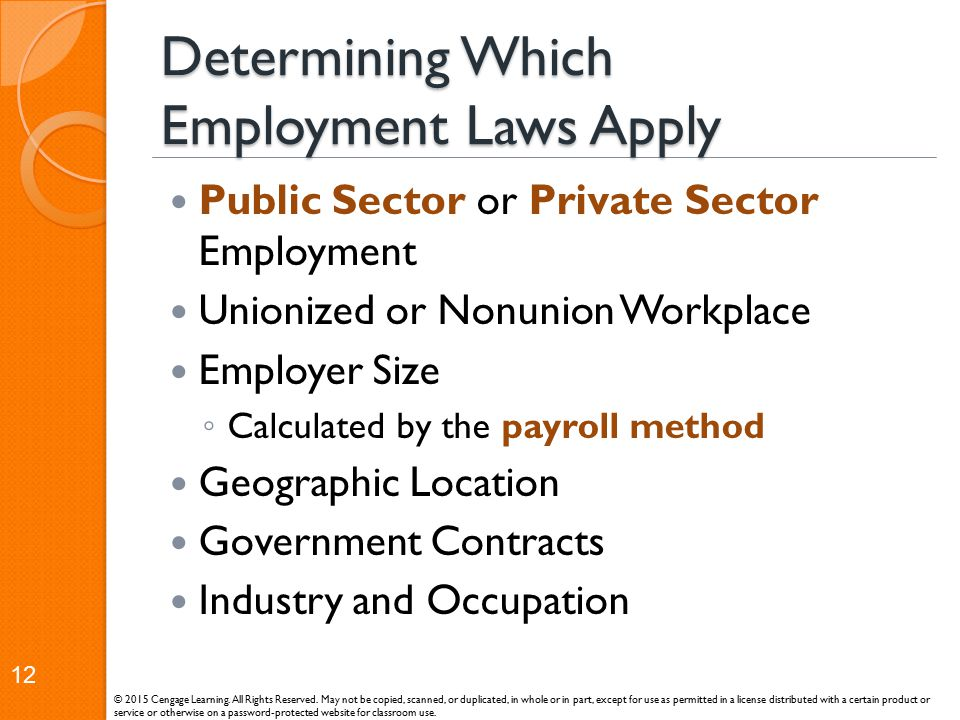 Determining Which Employment Laws Apply