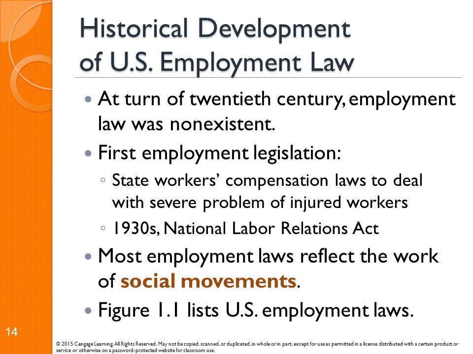 Historical Development of U.S. Employment Law