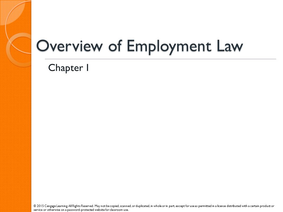 Overview of Employment Law