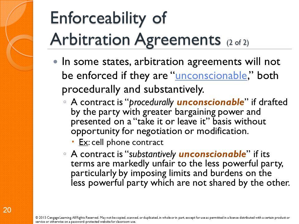 Enforceability of Arbitration Agreements (2 of 2)