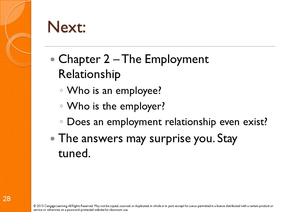 Next: Chapter 2 – The Employment Relationship