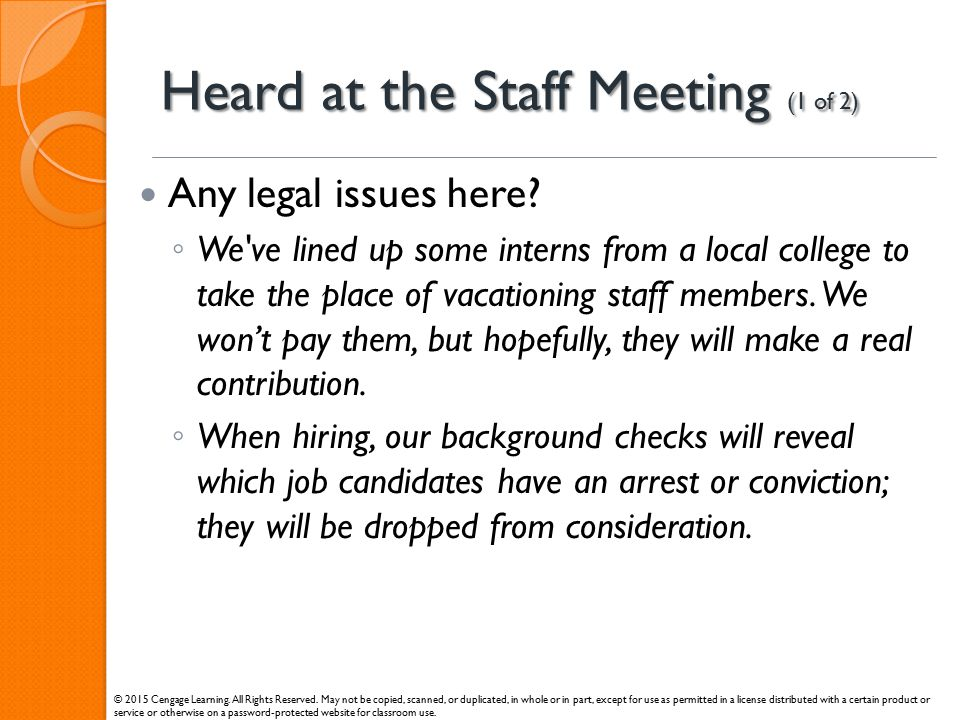Heard at the Staff Meeting (1 of 2)