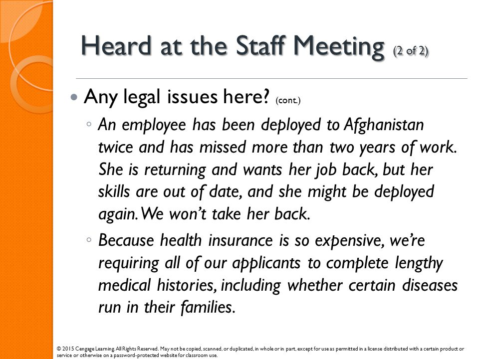 Heard at the Staff Meeting (2 of 2)