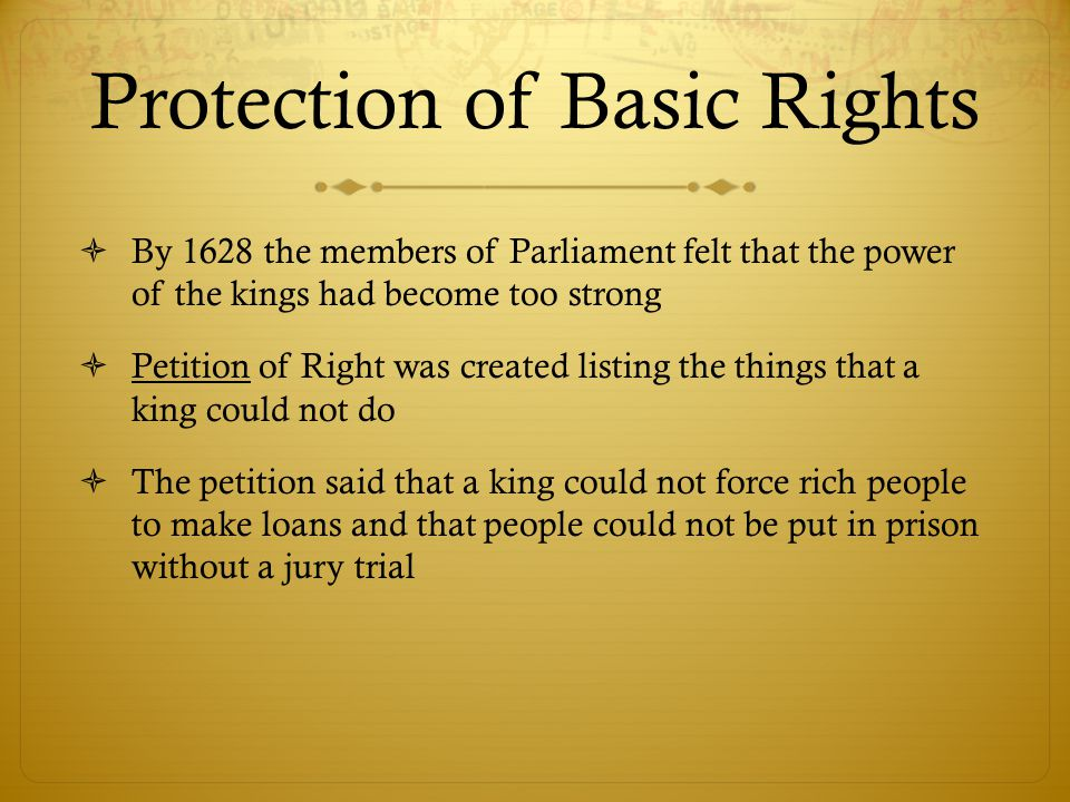Protection of Basic Rights